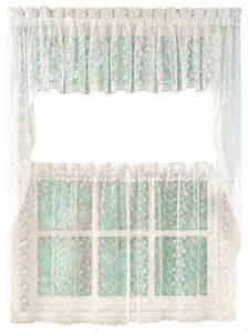 priscilla lace white kitchen curtain traditional