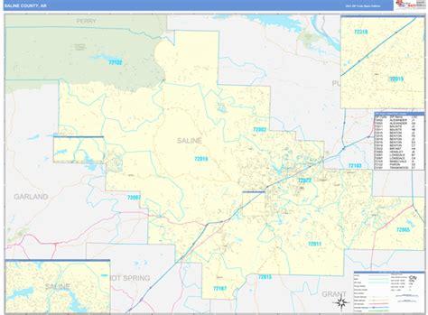 Saline County Ar Zip Code Wall Map Basic Style By Marketmaps
