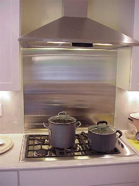 backsplash stainless steel stove metal kitchen gas ikea behind range tile wall sheet cooktop backsplashes panels depot stone homesfeed ss