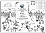 Coloring Rodeo Menus Menu Children Activity Covers Placemats Restaurants Restaurant Kid Placemat Childrens Optional sketch template