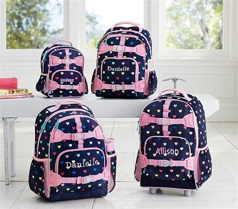 pottery barn backpacks mackenzie navy multicolor backpack pottery barn