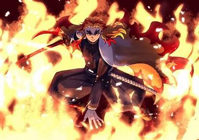 Slayer Demon Rengoku Kyojuro Anime Wallpapers Laptop