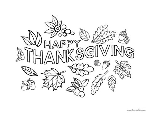 happy thanksgiving coloring pages  printable