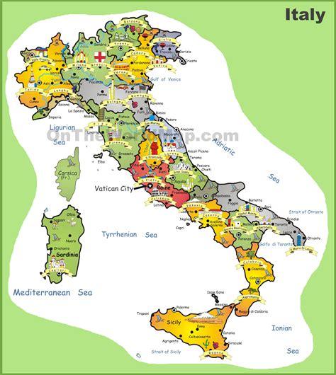 Carte Italie Villes by Carte De L Italie Cartes Sur Le Relief Villes Nord