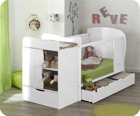 chambre bébé evolutif lit bébé évolutif jooly blanc avec matelas bébé
