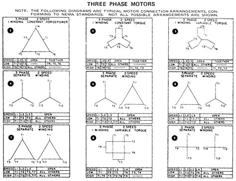 3 phase 6 lead motor wiring diagram untpikapps