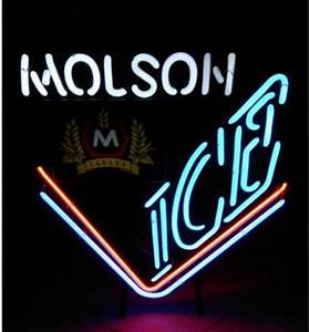2017 Vintage Molson Ice Canada Beer Neon Sign Real Galss