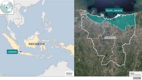 jakarta  fastest sinking city   world bbc news