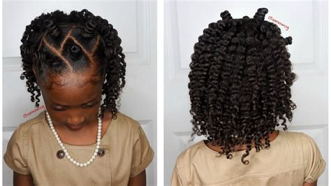 Kid Hairstyles by Mini Bantu Knots W Two Strand Twistout