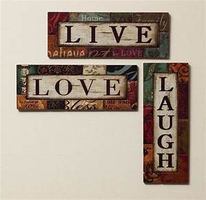live laugh love wall decor homes decor lighting etc With live love laugh wall art