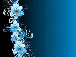 Blue Flower Background - WallpaperSafari