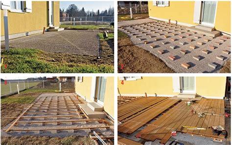 terrazza in legno come posare un marciapiede in legno pregiato bricoportale