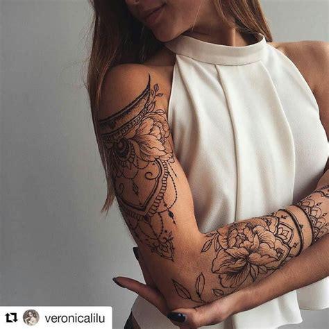 Pretty Sleeve Arm Tattoos Tattoos Girl Shoulder