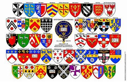Oxford Colleges University England Arms Flags Oxfordshire