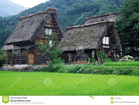 traditional houses japan stock image image  roof