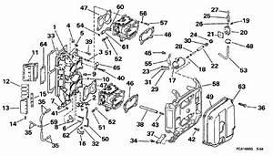 Johnson Intake Manifold Parts For 1998 90hp J90tslecm Outboard Motor