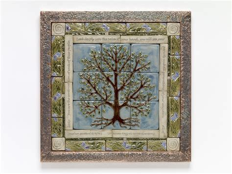 mural tiles for kitchen decor handmade ceramic tile tree of tile mural tile 7052