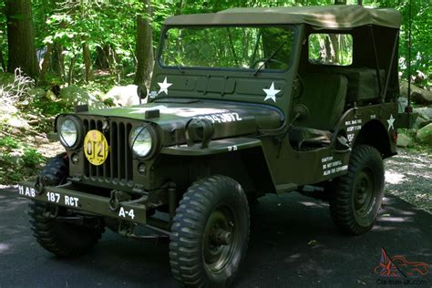 willys army jeep 1952 willys jeep m38 military jeep restored classic