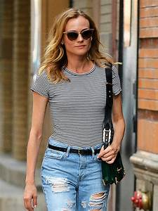 DIANE KRUGER in Ripped Jeans Out in New York 08/05/2016 ...