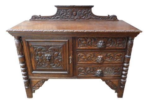 Carved Oak Sideboard by 19th Century Carved Oak Flemish Sideboard