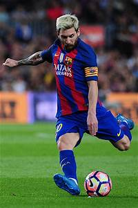 Lionel Messi of FCBarcelona shoots the ball during the ...