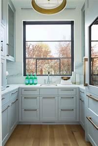Gray, Kitchen, With, Hardwood, Floor