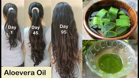homemade aloevera hair oil  double hair growth