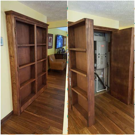 ana white bookshelf hidden doors  closet diy projects