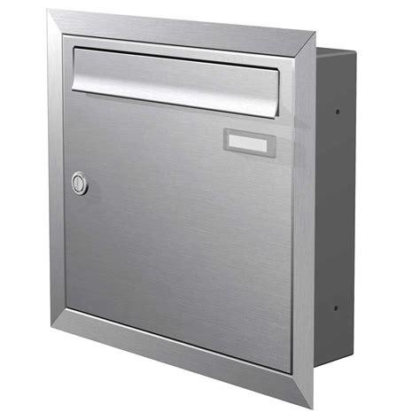 max knobloch briefkasten max knobloch edelstahl unterputz briefkasten 12 liter