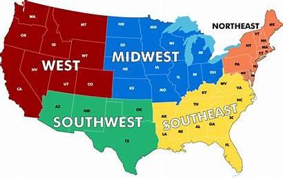 Continental States United Map Regions Byu Plan