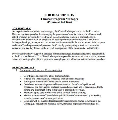 program manager description template 10 free word pdf format free premium
