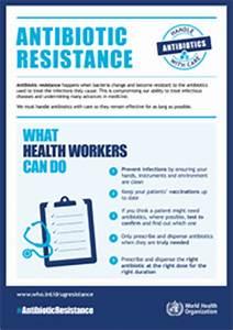 Calendar Format Who Posters Antibiotic Resistance
