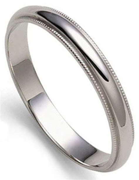 3 mm millgrained platinum dome s wedding band ring 1 mm thick sizes 8 12 ebay