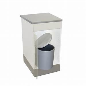 Meuble Poubelle Cuisine : poubelle cuisine pivotante 1 bac 13 litres gris ~ Dallasstarsshop.com Idées de Décoration