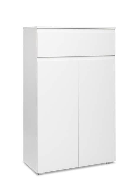 Kommode Imke 3 weiß 80x131x40 cm Schuhschrank Schrank