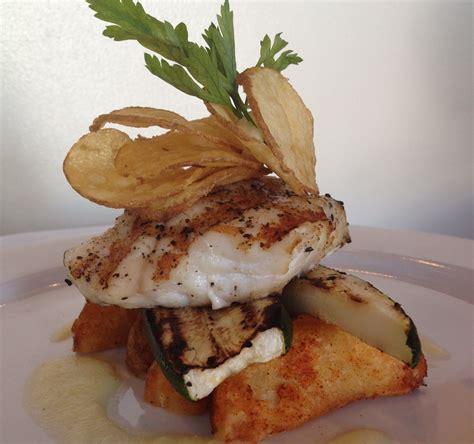 grouper steak sweet seared pan fish sour grilled pineapple zucchini glaze fries uploaded user belizean