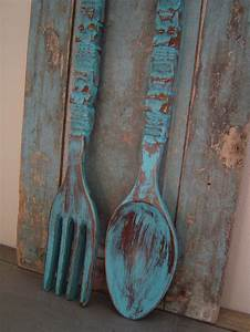 wooden fork and spoon wall decor newsonairorg With spoon and fork wall decor