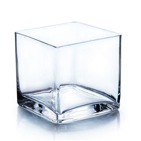 square glass vases clear square glass vase cube 5 inch 5 quot x 5 quot x 5