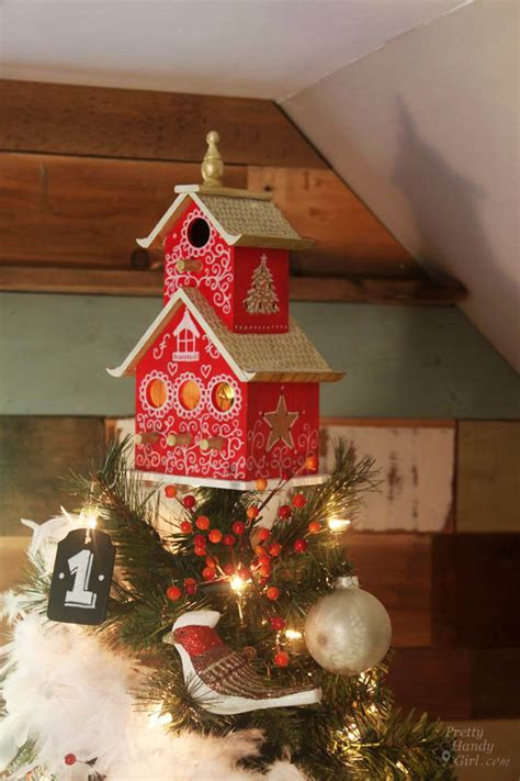 painted bird house tree topper pretty handy girl
