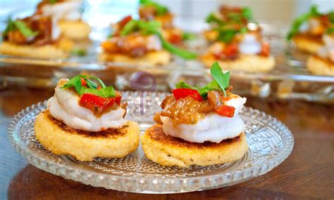 shrimp canapes recipes charlestonian lowcountry shrimp and grit canapes with