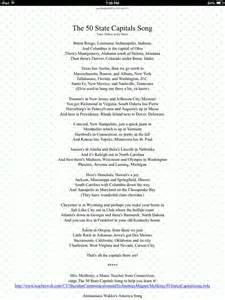 50 States Song Lyrics That Rhyme
