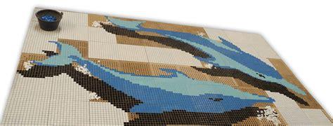 tableau en verre pour cuisine tableau en mosaïque en pate de verre pour piscine dauphin