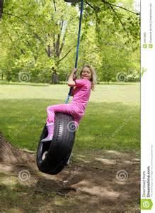 Girl On Tire Swing