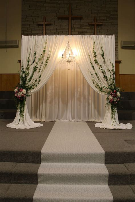 Wedding Ceremony Decor Wedding Church Cheap Backyard