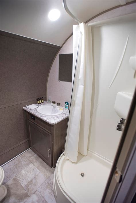 pod  shower vanity trailer life