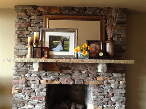mantel decor  large focal point layering height