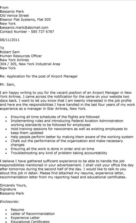 Airport Manager Resume Cover Letter Exles by Writing A Cover Letter For Work Experience Resume Cv
