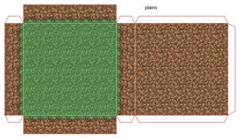 Papercraft Mini World With Biomes