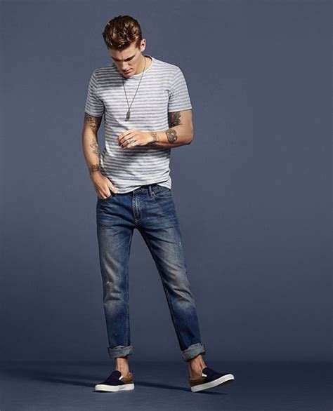 casual trendy spring outfits denim mango guys models jensen mikkel styleoholic summer poses examples shirt hombre ropa articulo que para
