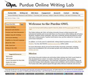 Purdue online writing lab review for teachers common for Purdue owl apa format template